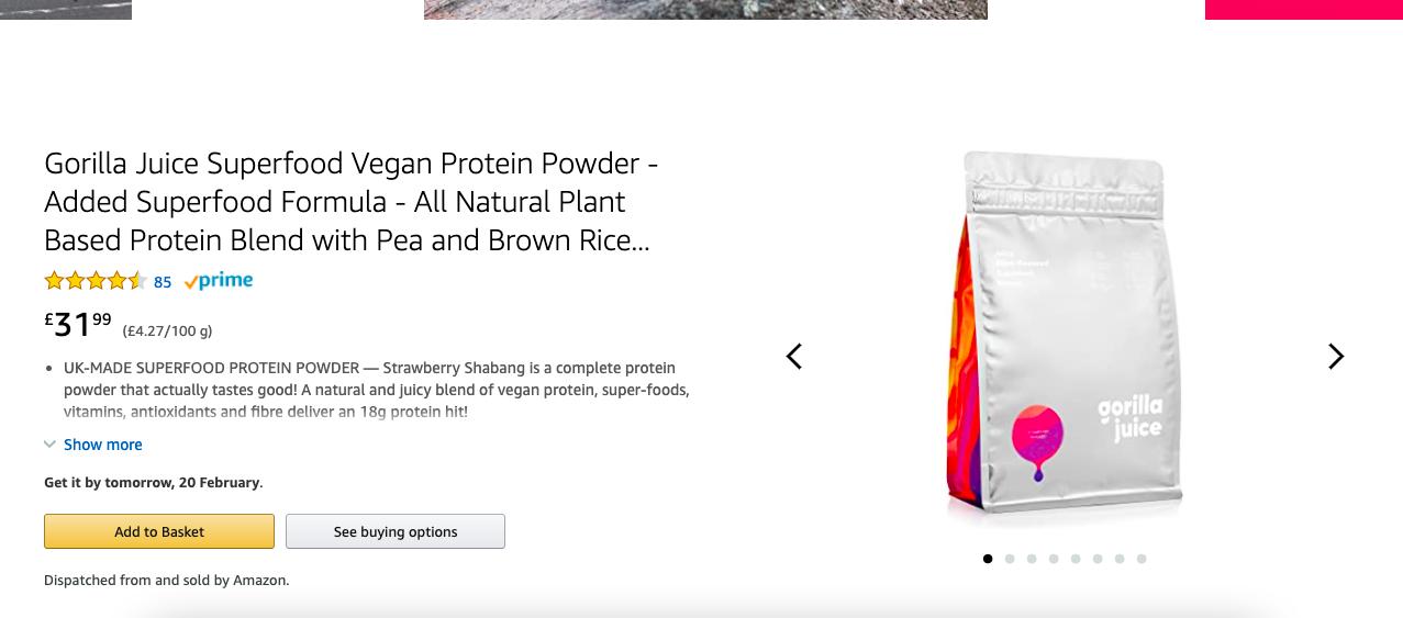 Gorilla Juice Achieves Amazon Vendor Central Status